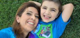 Amaya, con su hijo Mario.